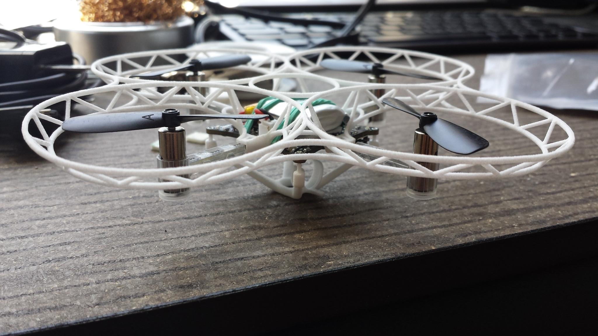 Crazyflie with 3D printed frame